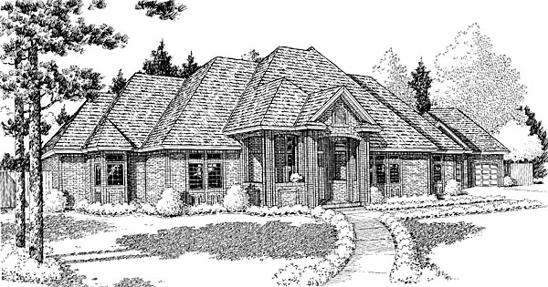 European , Traditional House Plan 10807 with 4 Beds, 5 Baths, 2 Car Garage Elevation