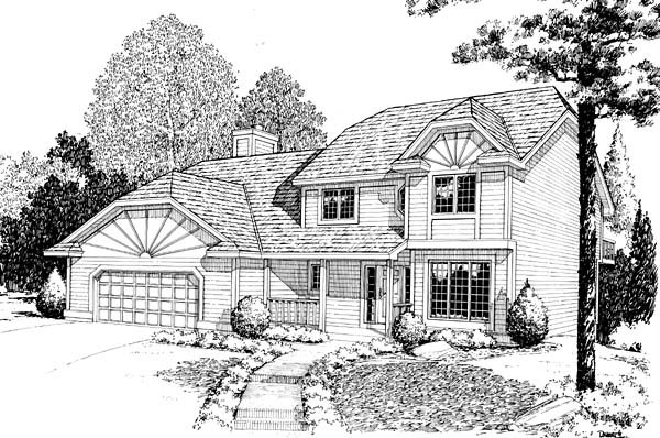 Country Farmhouse Traditional House Plan 10831 Elevation