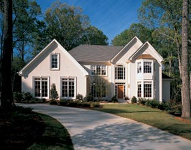 House Plan 19382 | European Traditional Style Plan with 3298 Sq Ft, 4 Bedrooms, 4 Bathrooms, 2 Car Garage Elevation