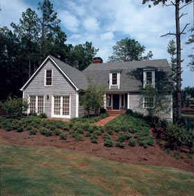 Cape Cod, Colonial House Plan 19410 with 4 Beds, 4 Baths, 2 Car Garage Elevation
