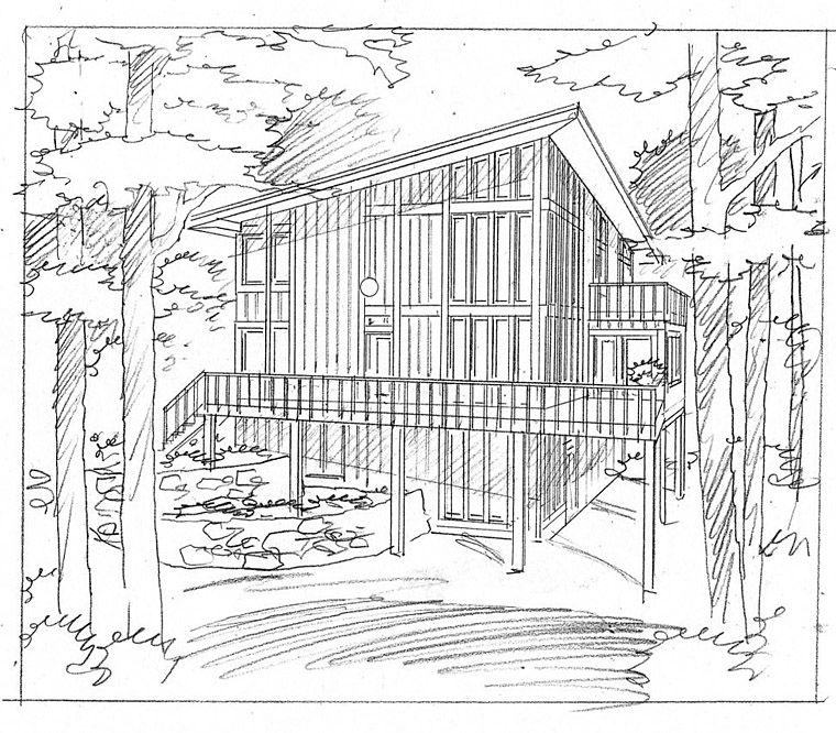 House Plan 19707 | Cabin Contemporary Style Plan with 1749 Sq Ft, 3 Bedrooms, 2 Bathrooms