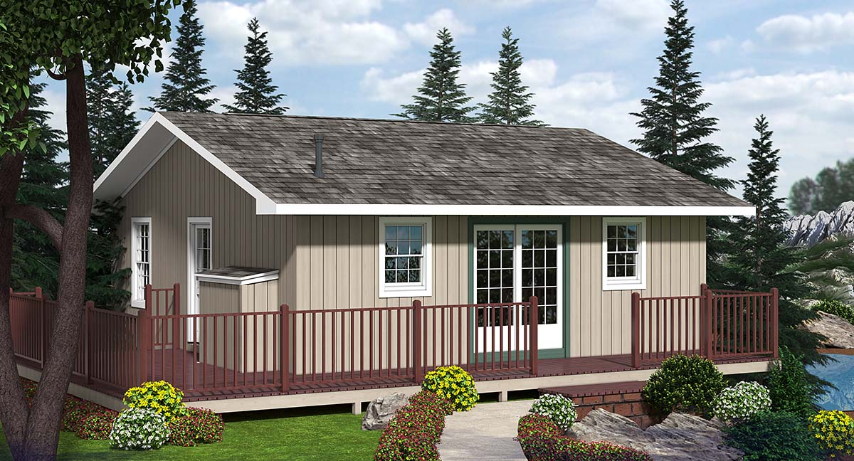 Cabin House Plan 20002 Elevation