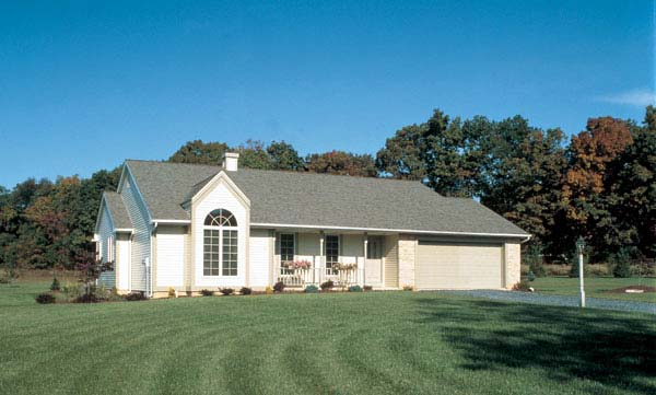 Country Ranch Traditional House Plan 20054 Elevation
