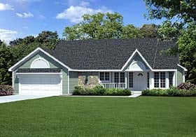 Traditional , Ranch , Country House Plan 20056 with 3 Beds, 2 Baths, 2 Car Garage Elevation
