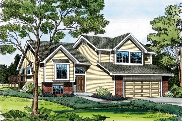 Traditional House Plan 20060 with 3 Beds, 3 Baths, 2 Car Garage Front Elevation