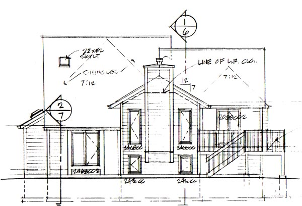 Traditional House Plan 20060 with 3 Beds, 3 Baths, 2 Car Garage Rear Elevation