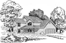 Country , Farmhouse , Traditional House Plan 20064 with 3 Beds, 3 Baths Elevation