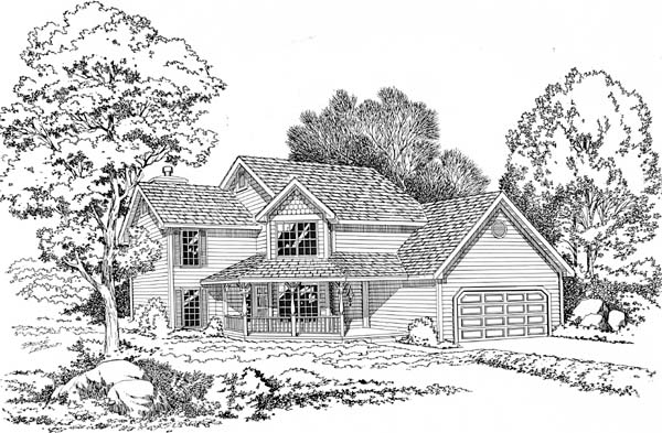 Country Farmhouse Traditional House Plan 20064 Elevation