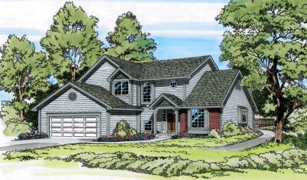 Country Traditional House Plan 20069 Elevation