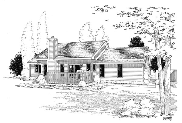 Country Ranch Traditional House Plan 20083 Rear Elevation