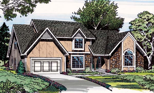 House Plan 20094 | European Traditional Style Plan with 3035 Sq Ft, 4 Bedrooms, 4 Bathrooms, 2 Car Garage Elevation