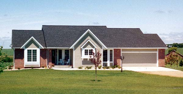 Traditional , Ranch House Plan 20099 with 3 Beds, 3 Baths, 2 Car Garage Elevation