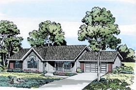 Ranch Traditional House Plan 20100 Elevation