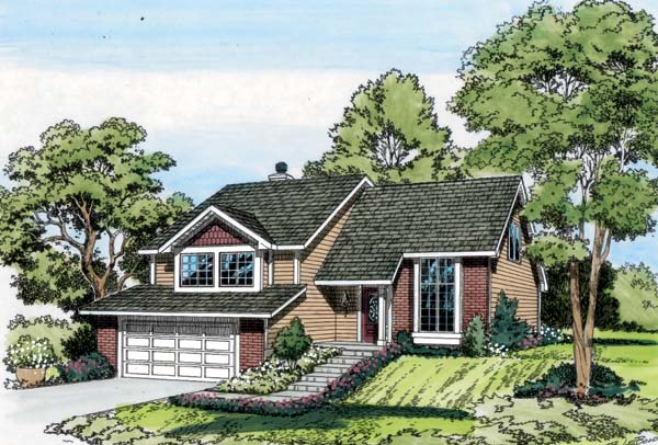 Contemporary Traditional House Plan 20102 Elevation