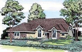 European Traditional House Plan 20105 Elevation