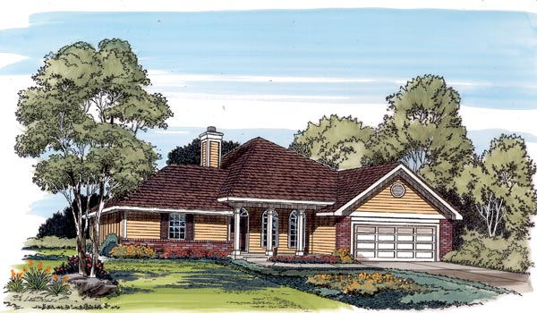 Ranch Traditional House Plan 20116 Elevation