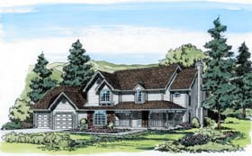 Country , Farmhouse , Southern , Traditional House Plan 20121 with 3 Beds, 3 Baths, 2 Car Garage Elevation