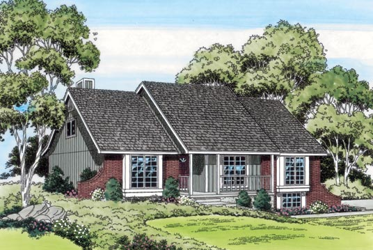 Bungalow Country Traditional House Plan 20125 Elevation
