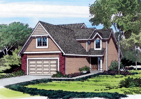 Country, Traditional House Plan 20133 with 3 Beds, 3 Baths, 2 Car Garage Elevation