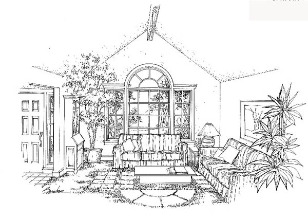 Traditional House Plan 20134 with 4 Beds, 3 Baths, 2 Car Garage Picture 1