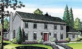 Saltbox House Plans at FamilyHomePlanscom