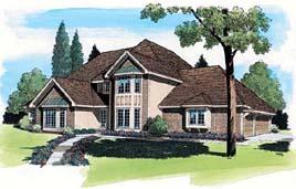 European Traditional House Plan 20138 Elevation