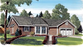 Victorian , Traditional , Ranch House Plan 20139 with 3 Beds, 2 Baths, 2 Car Garage Elevation