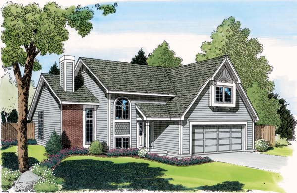 Contemporary European Traditional House Plan 20141 Elevation