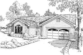 House Plan 20145 | Ranch, Traditional Style House Plan with 1830 Sq Ft, 3 Bed, 3 Bath, 2 Car Garage Elevation