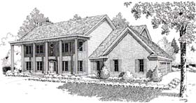 Colonial Southern House Plan 20151 Elevation