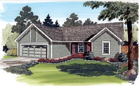 Ranch Traditional House Plan 20154 Elevation