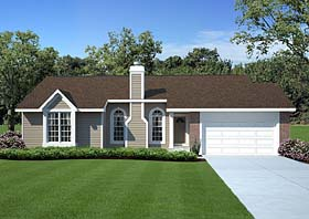 Ranch , Traditional House Plan 20156 with 3 Beds, 2 Baths, 2 Car Garage Elevation