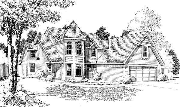 Country European Victorian House Plan 20157 Elevation