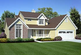 Country Traditional House Plan 20160 Elevation