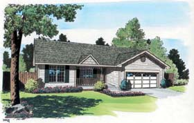 Ranch , Traditional House Plan 20161 with 3 Beds, 2 Baths, 2 Car Garage Elevation