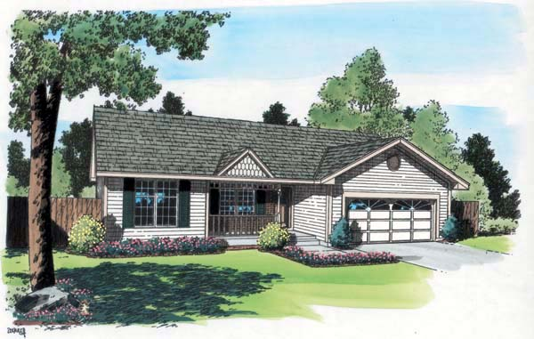 Ranch Traditional House Plan 20161 Elevation