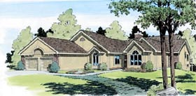 Traditional House Plan 20166 with 4 Beds, 4 Baths, 2 Car Garage Elevation