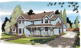 Country Farmhouse Victorian House Plan 20176 Elevation