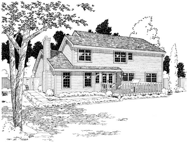 Country Farmhouse Traditional House Plan 20179 Rear Elevation