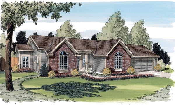 Ranch Traditional House Plan 20180 Elevation