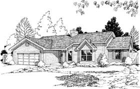 House Plan 20191 | Ranch Traditional Style Plan with 1606 Sq Ft, 3 Bedrooms, 2 Bathrooms, 2 Car Garage Elevation