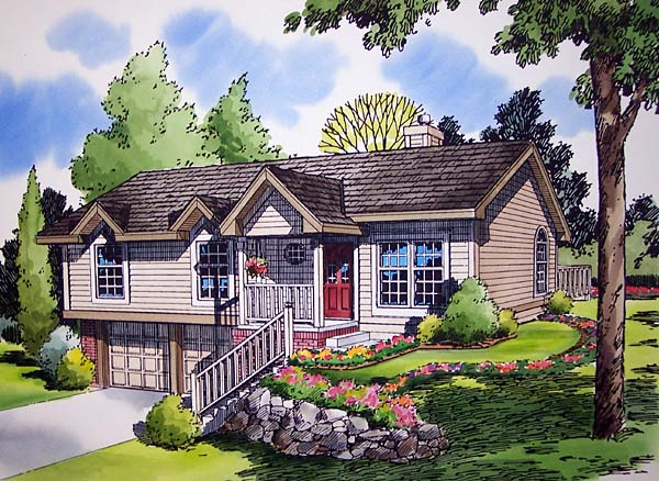 Ranch Traditional House Plan 20195 Elevation