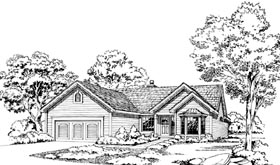 House Plan 20197 | Ranch Style Plan with 2790 Sq Ft, 3 Bedrooms, 4 Bathrooms, 2 Car Garage Elevation