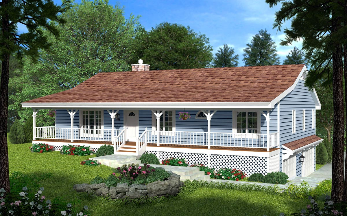 House plan 20198 at for Hillside house plans