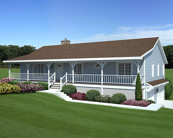 Country, Traditional House Plan 20198 with 3 Beds , 2 Baths , 2 Car Garage Elevation