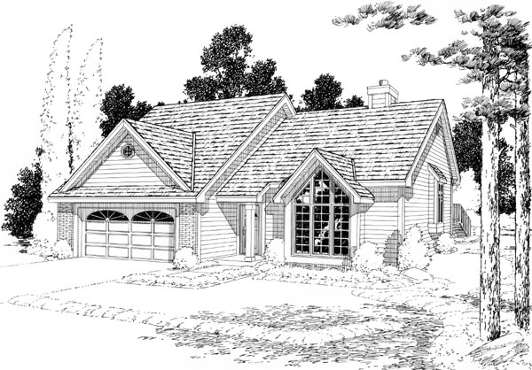 Contemporary Traditional House Plan 20200 Elevation