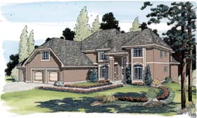 European Traditional House Plan 20206 Elevation