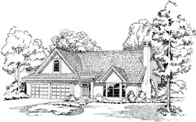 European , Traditional House Plan 20208 with 3 Beds, 3 Baths, 2 Car Garage Elevation