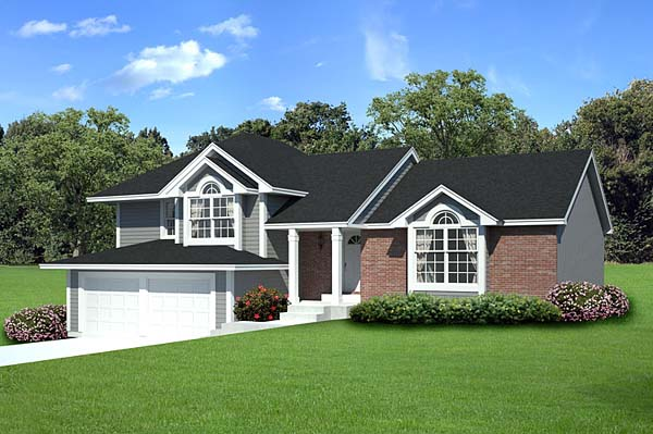 Traditional House Plan 20209 with 3 Beds, 3 Baths, 2 Car Garage Picture 1