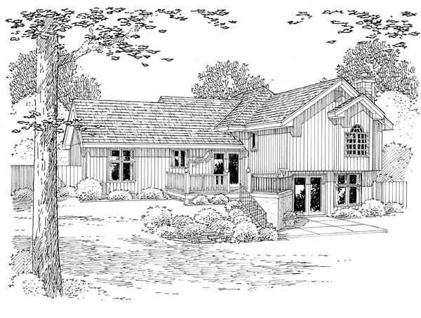 Traditional House Plan 20209 Rear Elevation